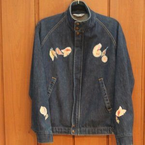 Vintage Swingster Sea Shell Denim Jacket  MED